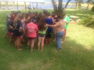 Ashlyn's youth group gathered together during a birthday party to #prayforAshlyn