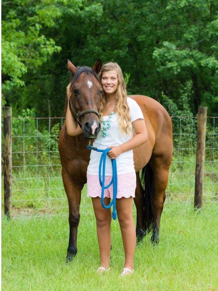 Ashlyn loves horses. A friend took this beautiful photo shortly after discovering the cancer.