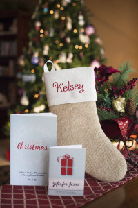 Cultivating Christmas Personalized Stocking Jesus