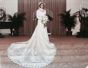 1985 Rhonda's borrowed Wedding dress
