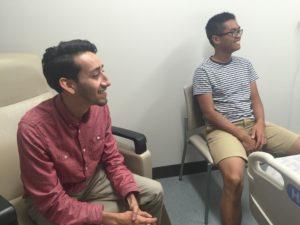 college roommates visit daniel
