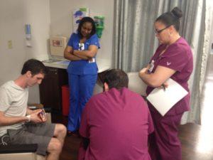Nurses watching video #danielkickscancer